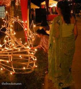 Lighting a Dayas in Trinidad